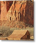 Horse Barn In Fruita Utah Metal Print
