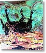 Horse Born Of Earth Water Sky Metal Print by Carol Law Conklin