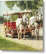 Horse Carriage Mackinac Island Michigan Metal Print
