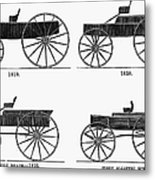 Horse Carriages, 1810-1860 Metal Print