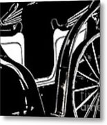 Horse Drawn Carriage Antique Metal Print