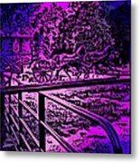 Horse Drawn Carriage In The Snow Metal Print