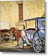 Horse Drawn Carriages In Guadalajara Metal Print
