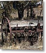 Horse Drawn Planter Metal Print