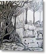Horse Meadow Metal Print