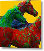 Horse Of A Different Color Metal Print