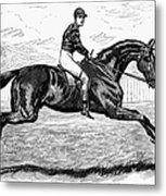 Horse Racing, 1880s Metal Print