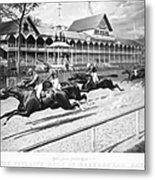 Horse Racing, 1889 Metal Print