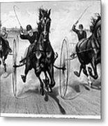 Horse Racing, 1890 Metal Print