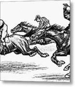 Horse Racing, 1900 Metal Print