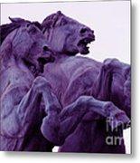 Horse Sculptures Metal Print