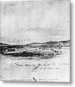 Horse Slaughter Camp 1858 Metal Print