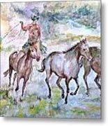 Horsemen Metal Print