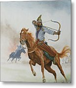 Horsemen From The Steppes Metal Print