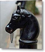 Horses On Delancey Street Metal Print by Lisa Phillips