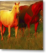 Horses Soft And Sweet Metal Print