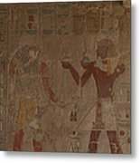 Horus Is Shown Receiving Gifts Metal Print