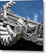 Horyu-ji Temple Roof Gargoyles - Nara Japan Metal Print