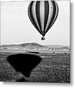 Hot Air Balloon Shadows Metal Print
