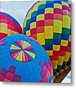 Hot Air Balloons Panorama Metal Print