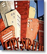 Hot City Streets Metal Print