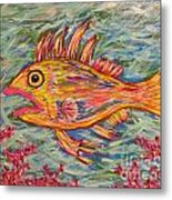 Hot Lips The Fish Metal Print