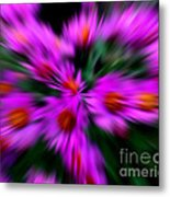 Hot Pink And Green Metal Print