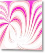 Hot Pink Swirls Metal Print