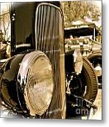 Hot Rod Grille Metal Print