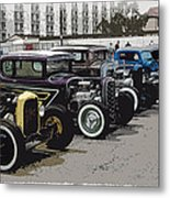 Hot Rod Row Metal Print