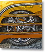 Hot Rod Wheel Cover Metal Print