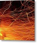 Hot Sparks Metal Print