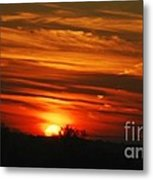 Hot Summer Night Sunset Metal Print