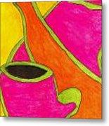 Hot Tea... Cold Juice Metal Print