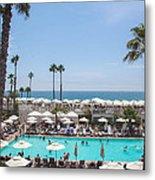 Hotel Del Coronado Pool  Metal Print