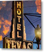 Hotel Texas Metal Print by Jeff Steed