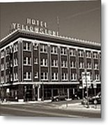 Hotel Yellowstone Metal Print