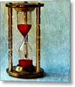 Hour Glass Dripping Blood Metal Print