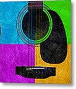 Hour Glass Guitar 4 Colors 3 Metal Print