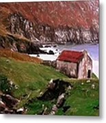 House At The Coast Metal Print