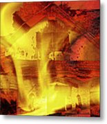House Fire Illustration 2 Metal Print