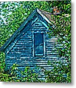 House In The Woods Art Metal Print