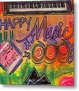 House Of Happy Music Metal Print