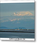 Dungeness Spit Lighthouse - Mt. Baker - Washington Metal Print
