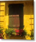 House Of Yellow Metal Print