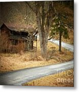 House On A Curve Metal Print