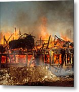 House On Fire Metal Print