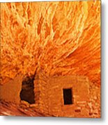 House On Fire Portrait 1 Metal Print