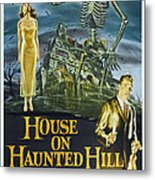 House On Haunted Hill, Alternate Poster Metal Print