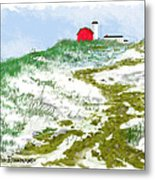 House On The Hill-winter Metal Print